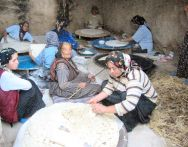 Turkish Women making Yufka