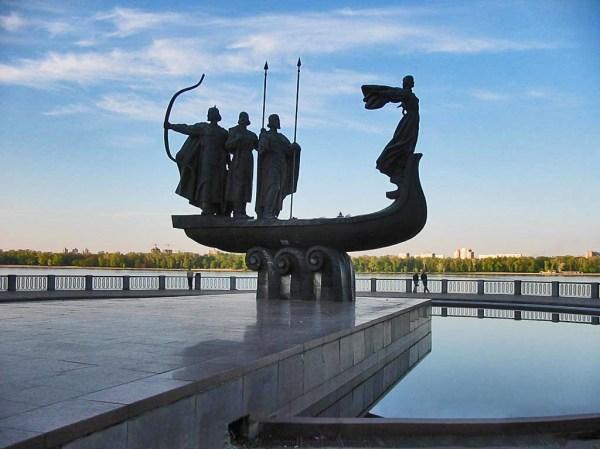 Пам'ятний знак на честь заснування міста Києва — Вікіпедія