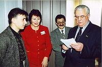 Павло Гай-Нижник і Леонід Кравчук (1 грудня 2000 року)