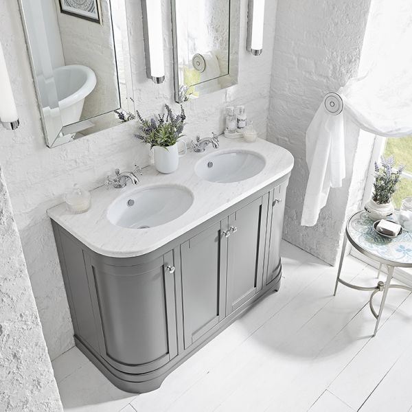Marlborough 1200mm Curved Double Basin Worktop Laura Ashley Bathroom Collection