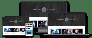 event website webpage responsiveness examples