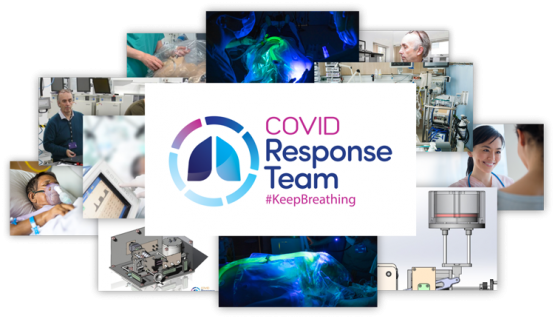 COVID Response Team Emergency Ventilators COVID-19 Ireland Photo Collage