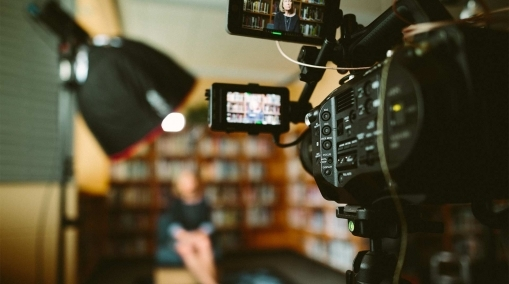 woman being interviewed by a video production company agency