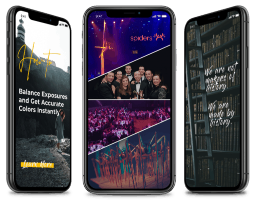 iphones displaying instagram story examples