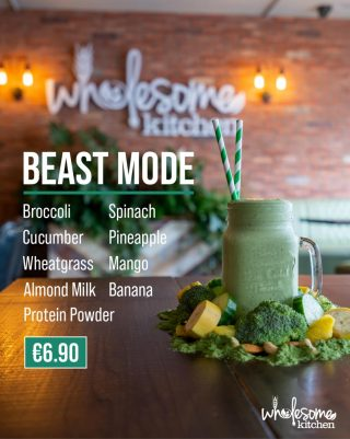 Wholesome Kitchen Nutritional Shake Menu Beast Mode