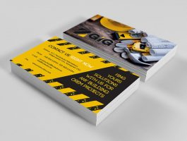 construction company business card front and back