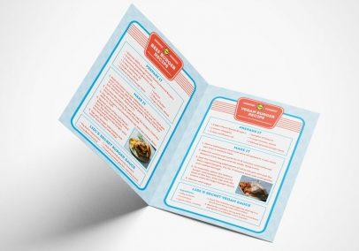 Lidl Ireland Sizzling BBQ Burgers Booklet Mockup 2