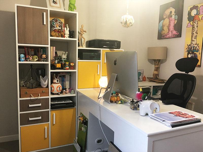 bureau sur mesure coloree