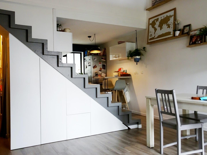 caisson sous escalier