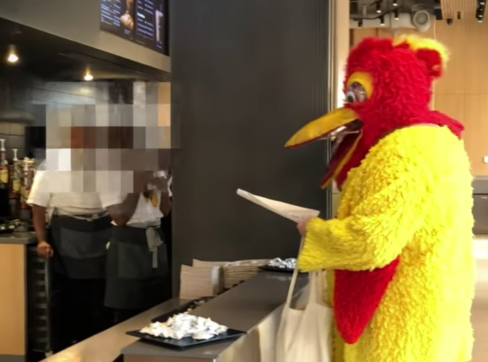 A singing chicken in McDonald's