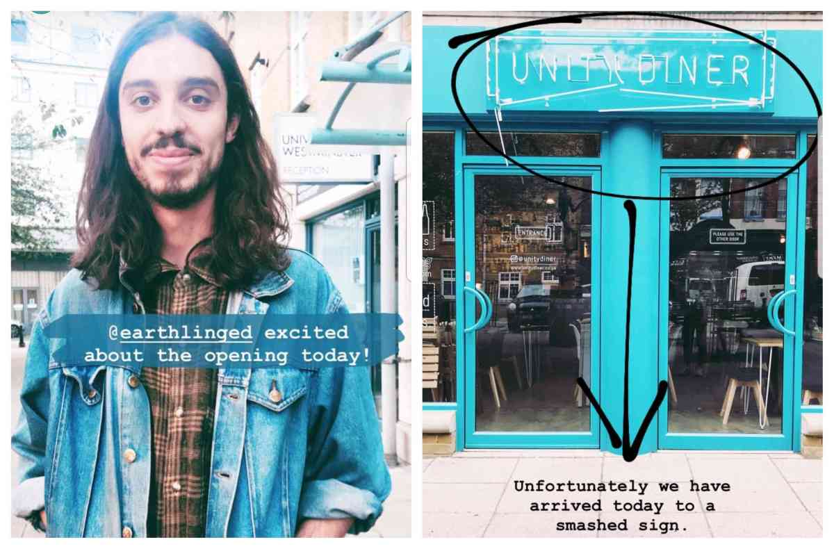 Vegan activist Earthling Ed and the Unity Diner in Shoreditch