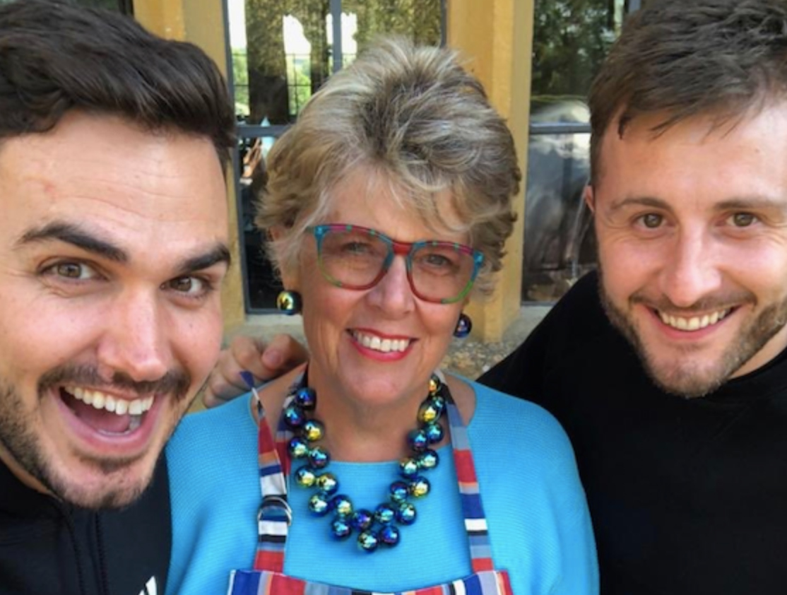 Henry Firth and Ian Theasby with Prue Leith