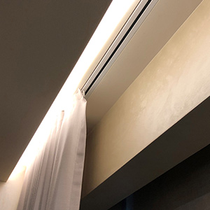 recessed curtain tracks for somfy