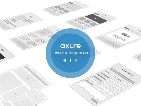 Axure Website Flowchart sitemap Kit   UX UI Land Axure Website Flowchart sitemap Kit
