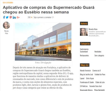 Matéria de jornal sobre Aplicativo do Guará