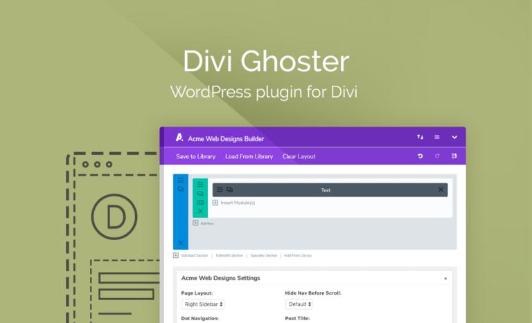 Download Divi Ghoster Plugin