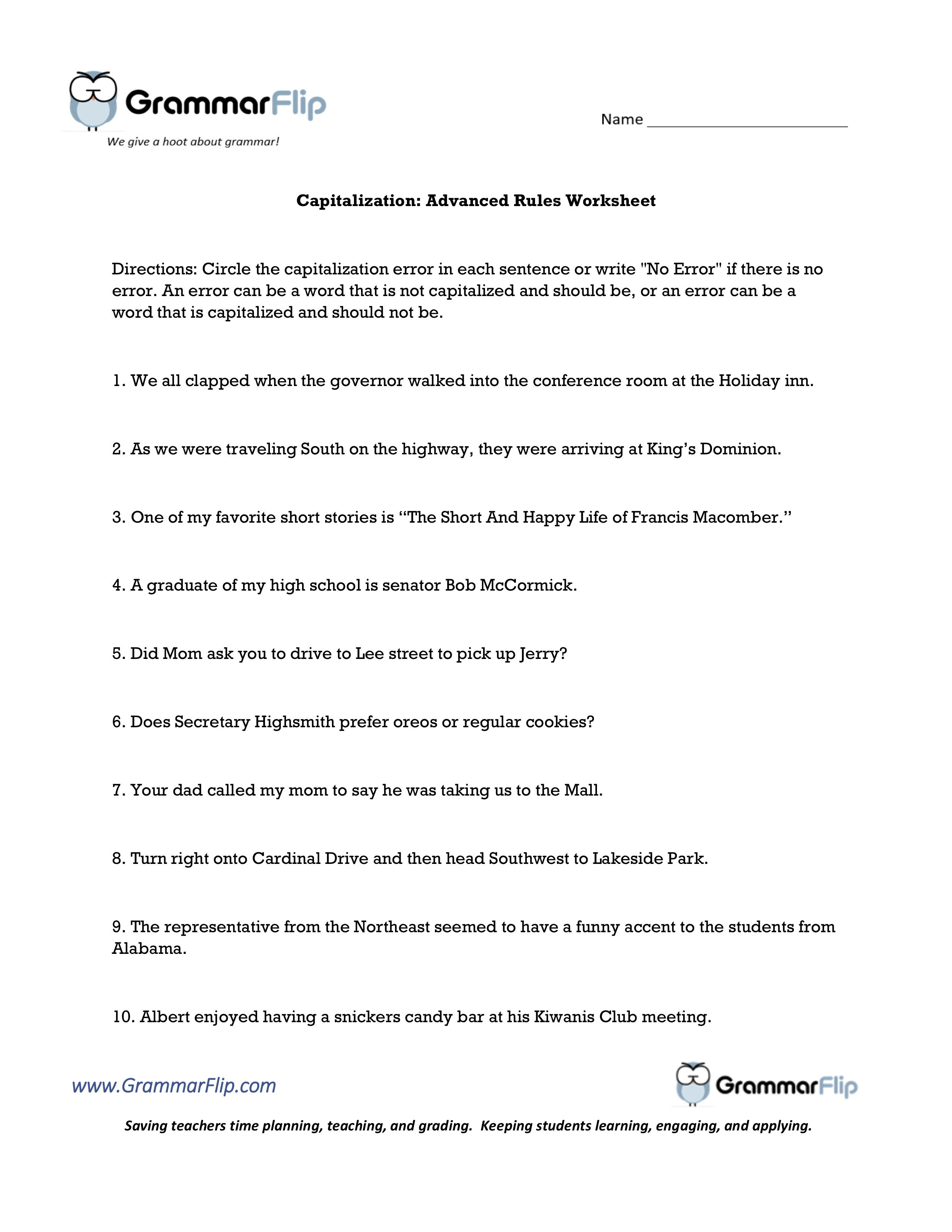 Capitalization Advanced Rules