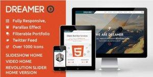 Dreamer – Photo & Video Parallax WordPress Theme