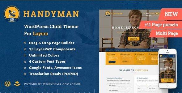 Handyman – Craftsman Business WordPress Theme