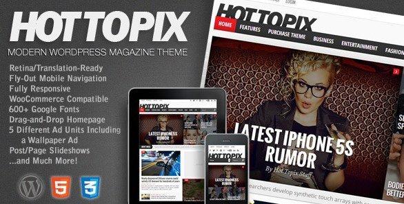 Hot Topix – Modern WordPress Magazine Theme