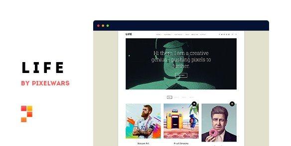 Life - Boxed Portfolio WordPress Theme