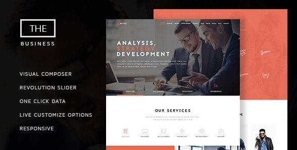 The Business - Powerful One Page Biz Theme