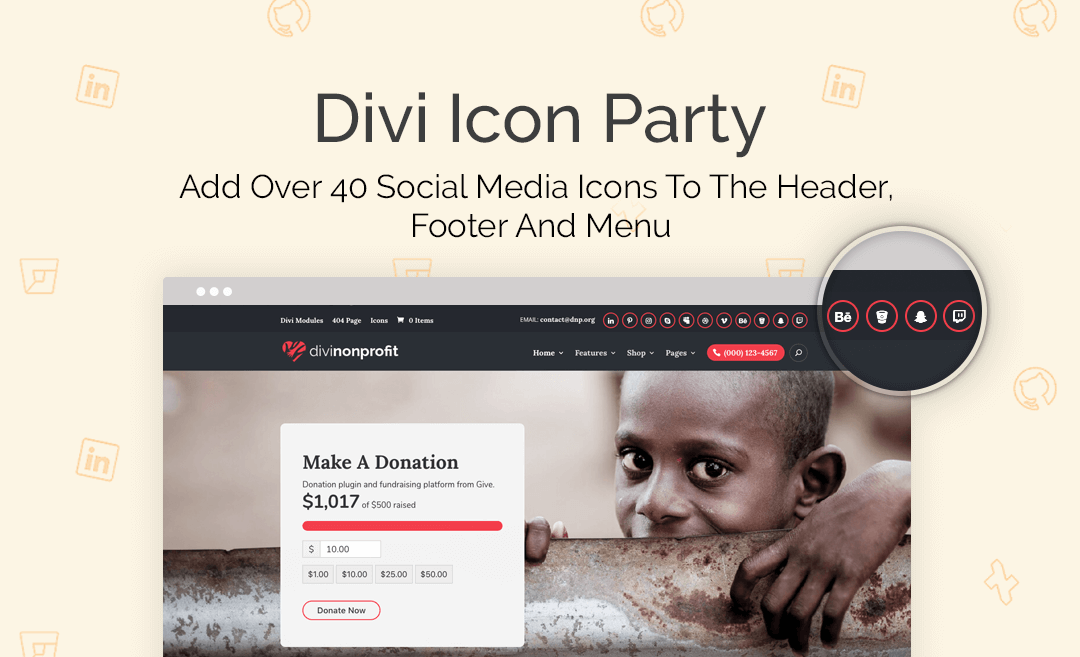 AGS: Divi Icon Party