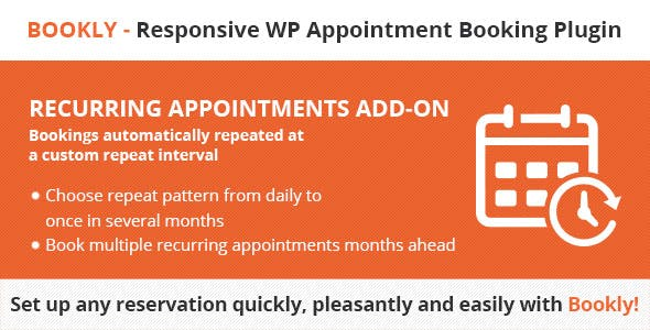 Bookly Recurring Appointments (Add-On