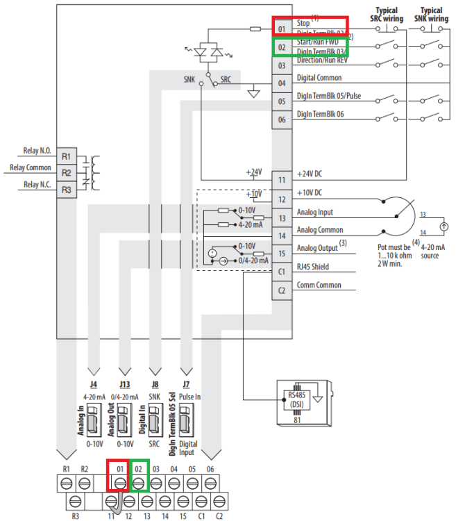 powerflex 525 vfd setup  programming parameters wiring