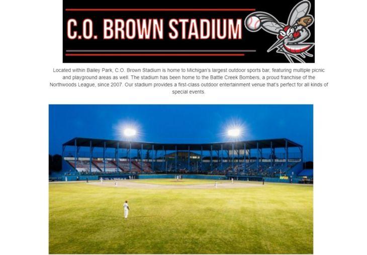 C O Brown Stadium, Battle Creek, MI