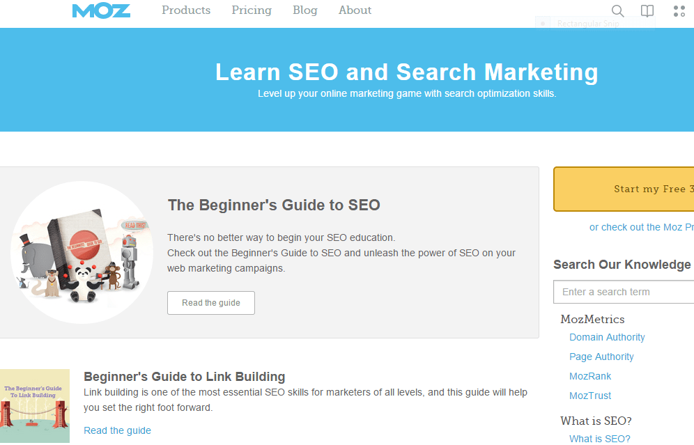 Moz Learning Resources