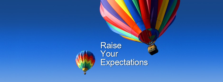 Image result for raise our expectations