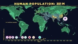 American Museum of Natural History envisions human population growth (VIDEO).