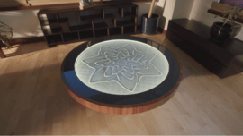 This Zen Coffee Table Creates Gorgeous Patterns Using Magnets and Sand