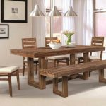 Rustic Dining Room Table Plans Shiny Brown Eased Edge Profile Marble Top Rectangular Rustic Wood Dining Table Centerpieces Polished Hardwood Dining Table Centerpieces Small Dining Room Table Great Idea Hub