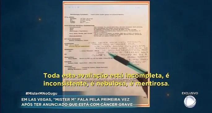 Screenshot 4121 - Mister M pede ajuda para tratar câncer, mas não apresenta exames