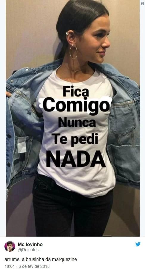 Screenshot 45 - Bruna Marquezine estampa camisa com declaração a Neymar e gera memes na web