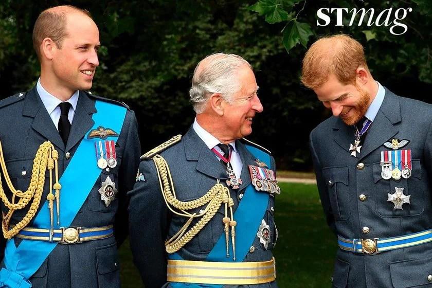 Príncipes Charles com os filhos, William e Harry