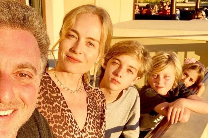 Luciano Huck, Angelica with their children Eva, Benicio and Joaquim