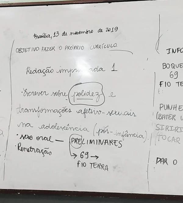 Professor de Brasília ensina crianças de 10 anos sobre sexo anal e oral durante aula de português 19
