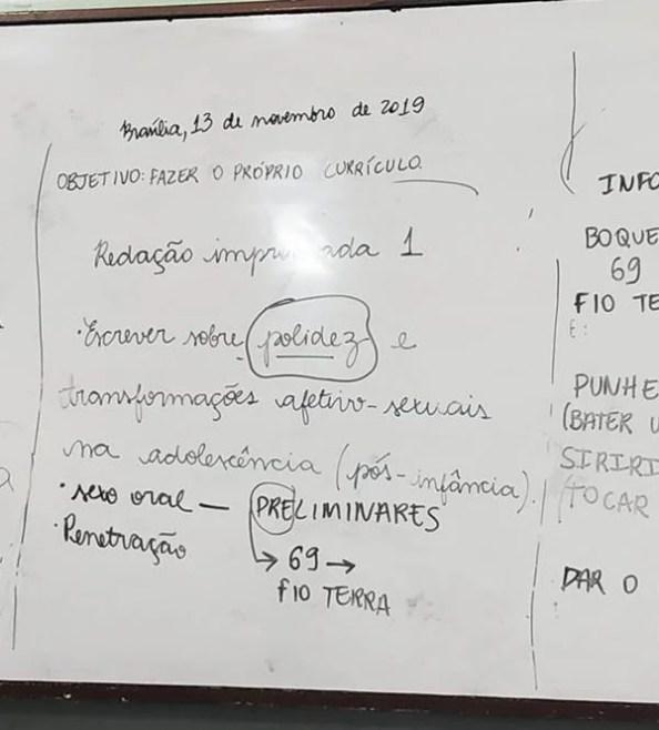 Professor de Brasília ensina crianças de 10 anos sobre sexo anal e oral durante aula de português 22