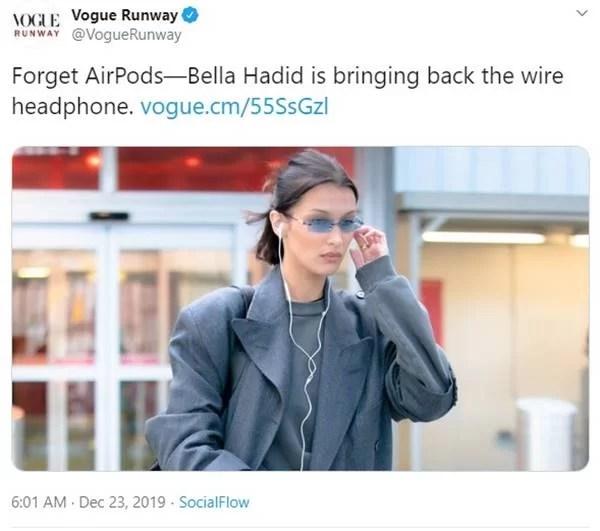 Twitter/Vogue Runway/Reprodução