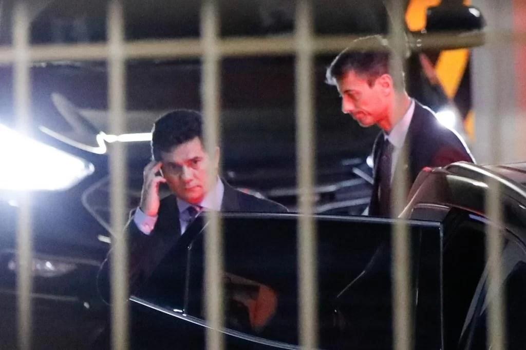 Sergio Moro deixa o Ministério da Justiça no início da noite, depois da demissão
