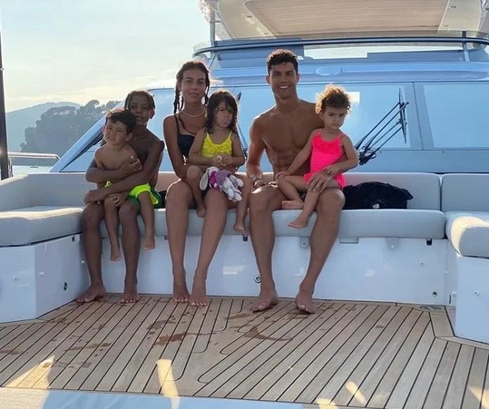 Cristiano Ronaldo e a família