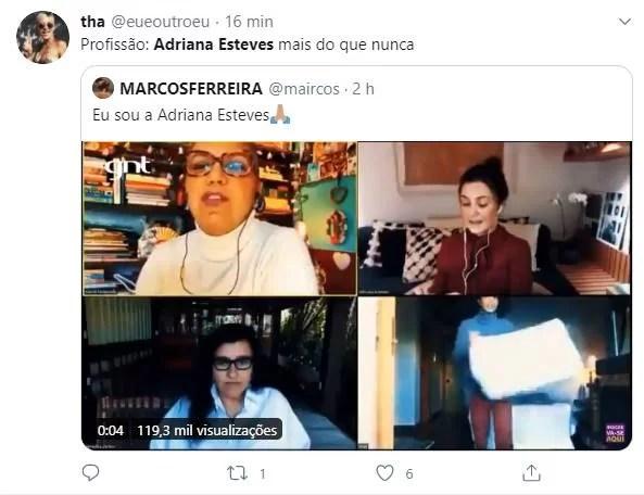 Adriana Esteves diz que é fofoqueira e vira meme