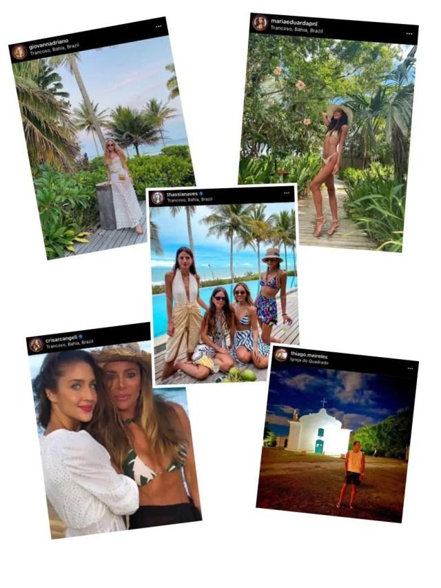 influencers e brasilienses na praia