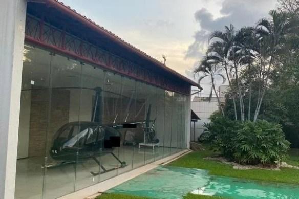 Um helicóptero foi apreendido durante a operação, segundo a PF