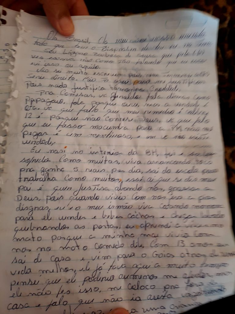 Carta supostamente escrita por Lázaro