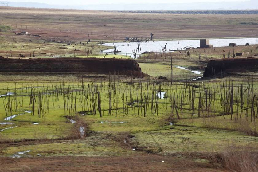 water and energy crisis, the reservoir of the itumbiara hydroelectric plant faces a reduction in the water level due to drought and drought