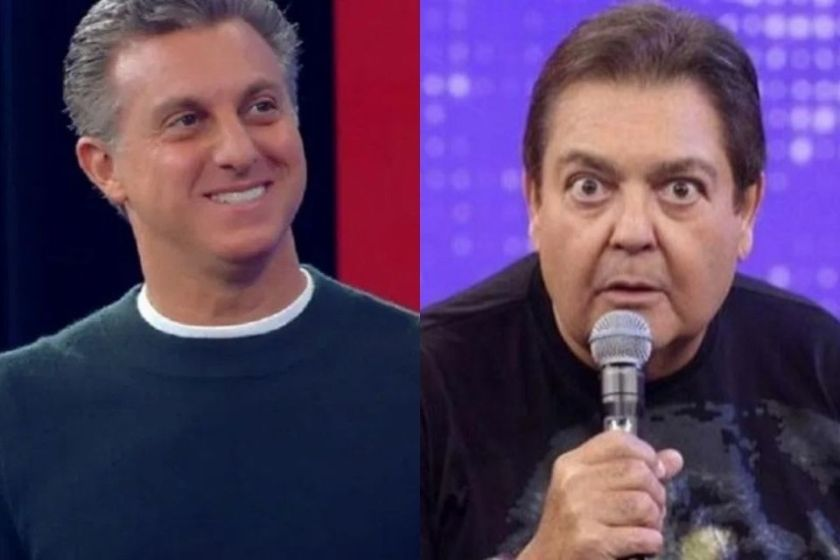 Luciano Huck and Faustão
